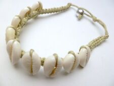Hawaii Jewelry Natural Sigay Cowry Shell Bracelet or Anklet # 20030-13 (QTY 2)