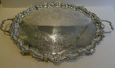 Antique English Silver Plated Serving Tray by Barker Brothers c.1890