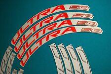 CAMPAGNOLO BORA ULTRA 50 2015 WHITE & ORANGE 3D RIM DECAL SET FOR 2 RIMS