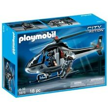 City Action Playmobil tactical Police Helicopter Playset  Kids/children Toy