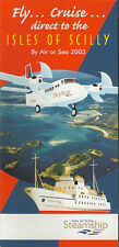 Isles of Scilly Skybus system timetable 2003 [5124] (Buy 2 get 1 free)