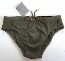 NWT Authentic TOM FORD Solid Khaki Swim Brief Swimsuit Bathing Suit IT-52 US-36