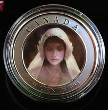 2014 Canada Ghost Bride Coin Large 25 Cent Colored 3D Coin With Case & Coa