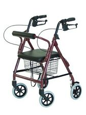 4 Wheel Rollator drive Blue Adjustable Height Aluminum