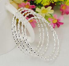 Hot fashion wholesale lots  5PCS 925 sterling silver  bangle bracelet  S072