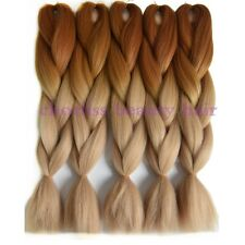 "24"" Expression Kanekalon Ombre Synthetic Braiding Hair Honey brownTblonde 5pcs"