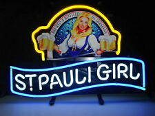 """New St Pauli Girl Beck's Bremen Beer Lager Neon Sign 17""""x14"""" NT46M Free Shipping"""