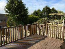Composite Decking Balustrade Pack in Autumn 1.8 Linear Metres Ecoscape UK