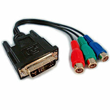 DVI-A MALE TO 3 RCA RGB COMPONENT VIDEO FEMALE ADAPTER