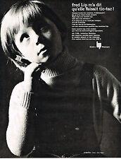 PUBLICITE  1964   FRED LIP  montre TIC-TAC