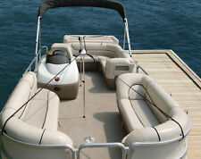 DUAL Pontoon Boat Cover Support Pole System with straps