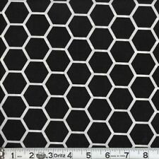 Honeycomb Quilt Cotton Fabric BY THE YARD Black