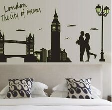 London tower bridge 3D wall art autocollant décalcomanie murale chambre taille 60*90cm