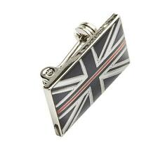 THIN RED LINE UK FIREMAN FIREMEN FIREFIGHTER MOURNING BAND RESIN BROOCH BADGE