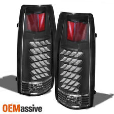 Fits 88-98 C10 C/K Suburban Tahoe Sierra Yukon Silverado Black LED Tail Lights