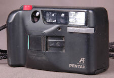 PENTAX PC-303 Vintage 35mm Point And Shoot Film Camera-Rangefinder w Strap Cord