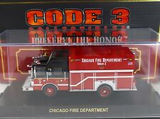 Code 3 Chicago FD Squad 2 HME Fire Truck 1:64 Diecast 12645