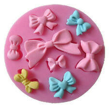 Chic Silicone Candy Cake Emboss Mold Bow Knot Print Fondant Mould Decor Tool 1pc