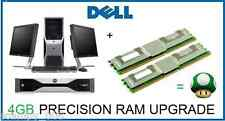 4gb (2x2 GB) Actualizar La Memoria Ram Dell Precision T5400 T7400 workstation en rack R5400