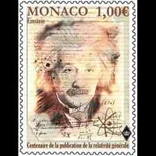 monaco 2015 1915 Albert Einstein published gravitation theory relativity 1v mnh