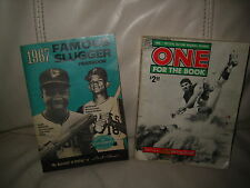 PAIR OF BASEBALL PUBLICATIONS FROM 1966 & 1967 - VINTAGE ITEMS FOR A COLLECTOR