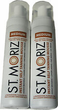 2 X 200Ml St Moriz Instant Self Tanning Mousse Medium Tan Fast Drying