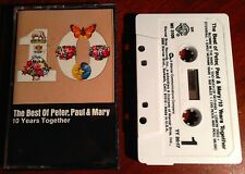 The Best of Peter, Paul & Mary Cassette 10 Years Together