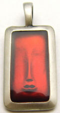 "BICO Surf Pendant ""Face of Wisdom"" Enamel Great for Daily Wear Australia Pewter"