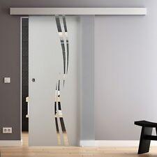 LEVIDOR Glasschiebetür Design 900 x 2050mm Glastür Schiebetür GP1A9M