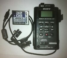 SONY HVR-MRC1 Memory Recorder + HVRA-CR1 cradle, cable, shoe + 32 GB flash card