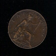 1919 FARTHING 1/4d GEORGE V BRITISH COIN £SD BRONZE COIN