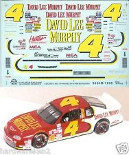 NASCAR DECAL # 4 DAVID LEE MURPHY 1996 BGN CHEVY MONTE CARLO JEFF PURVIS SLIXX
