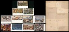 RUSSIA 1920s-30s PPCs ARTISTS 11 items MILITARY INVASION REFUGEES OCCUPATION WAR