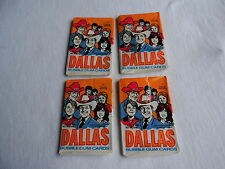 Four 1981 Topps DALLAS Unopen Wax Card Packs High Grade JR EWING free shipping