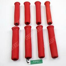 Red Spark Plug Wire Boot Heat Shield Insulator 8Pcs