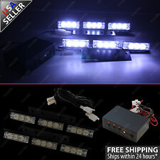 18 LED Emergency Vehicle Strobe Flasher Lights Deck Dash Grille Lightbars White