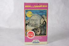 Rare 1982 NIGHT OF THE LIVING DEAD (1968) VHS Horror Movie Video Media Home Ent!