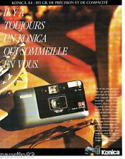 PUBLICITE ADVERTISING 116  1989  Konica  appareil photo A4 autofocus