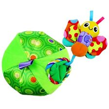 Newborn Baby Kid Child Crinkle Rattle Activity Peekaboo Apple Bug Soft Plush Toy