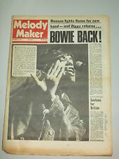 MELODY MAKER 1973 SEPTEMBER 8 DAVID BOWIE ROLLING STONES SANTANA MICK RONSON