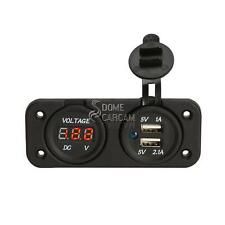 USB Charger Socket Voltmeter for Harley Dyna Super Wide Glide Low Rider Fat Bob