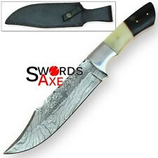 Rebel Wolf 10 Point Buck Deermaster Damascus Knife Hunting Blacksmith Bowie
