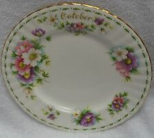 Royal Albert Flower of the Month October Pastel And Green  Plate 1970