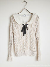 ingni Ribbon Sweater Tops/Blouse Dress Sweet street Lolita Kawaii Japan