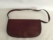 Yorn Boutique Vintage Leder Tasche 60er 70er Jahre Bordeaux Rot