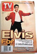 Elvis Presley Cover TV Guide Magazine August 16-22 1997 - Cable Edition