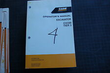 CASE CX330 Excavator Trackhoe Crawler Owner Operator Maintenance Manual book
