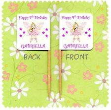 20 PERSONALISED FAIRY PRINCESS CUP CAKE FLAG Birthday Party Pick Food Topper