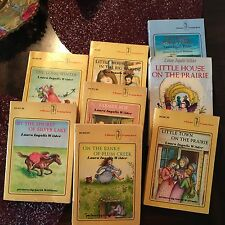 Lot of 8 Laura Ingalls Wilder Paperback Children's  books -CLASSIC/Popular!!