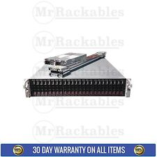 2U 24 bay 2.5 Supermicro Superchassis SC216E16-R1200LPB with PS Rail Kit